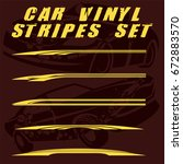 tribal and cool car stripe set...   Shutterstock .eps vector #672883570
