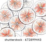 pattern with the image of... | Shutterstock . vector #672899443