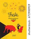 spain fiestas or festivals... | Shutterstock .eps vector #672900919