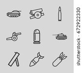conflict icons set. set of 9... | Shutterstock .eps vector #672922330