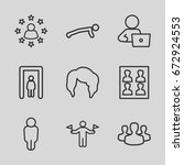 person icons set. set of 9... | Shutterstock .eps vector #672924553