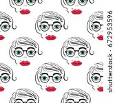 seamless pattern background... | Shutterstock .eps vector #672953596