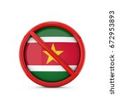 suriname flag prohibited no... | Shutterstock . vector #672953893