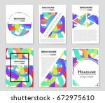 abstract vector layout... | Shutterstock .eps vector #672975610