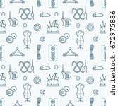 sewing equipment  tailor... | Shutterstock .eps vector #672975886