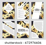 abstract vector layout... | Shutterstock .eps vector #672976606
