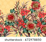 beautiful flower background... | Shutterstock . vector #672978850