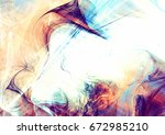 beautiful smoke with lighting... | Shutterstock . vector #672985210