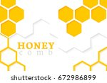 honeycomb background. vector... | Shutterstock .eps vector #672986899