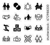 together icons set. set of 16... | Shutterstock .eps vector #672988330