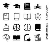 knowledge icons set. set of 16... | Shutterstock .eps vector #672990094