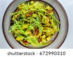 vegetarian dish | Shutterstock . vector #672990310