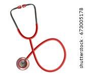stethoscope medical ... | Shutterstock .eps vector #673005178