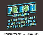 vector of bold modern font and... | Shutterstock .eps vector #673009684