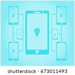 mobile communication network. | Shutterstock .eps vector #673011493