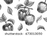 seamless pattern. realistic... | Shutterstock .eps vector #673013050