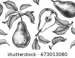 seamless pattern. realistic...   Shutterstock .eps vector #673013080
