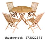 wooden octagonal set garden... | Shutterstock . vector #673022596