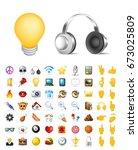 set of realistic cute elegant... | Shutterstock .eps vector #673025809