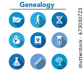 ancestry or genealogy icon set... | Shutterstock .eps vector #673030723