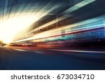 blurry chromatic color tunnel... | Shutterstock . vector #673034710