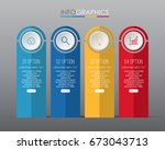 business info graphic template... | Shutterstock .eps vector #673043713