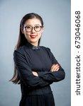 chinese business girl    Shutterstock . vector #673046068