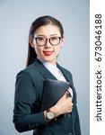 chinese business girl    Shutterstock . vector #673046188