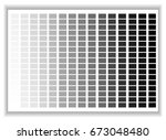 grey colors palette. color... | Shutterstock .eps vector #673048480