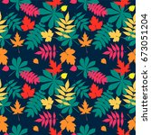 vector seamless pattern with... | Shutterstock .eps vector #673051204