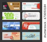 big voucher discount template... | Shutterstock . vector #673053184