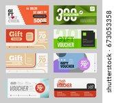 big voucher discount template... | Shutterstock . vector #673053358