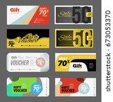 gift voucher certificate coupon ... | Shutterstock . vector #673053370