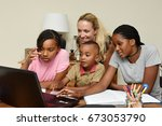 family study support | Shutterstock . vector #673053790