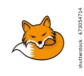 fox sign. | Shutterstock .eps vector #673054714