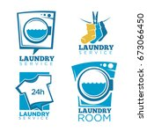 laundry icons vector templates... | Shutterstock .eps vector #673066450