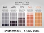 neutral vector infographic with ... | Shutterstock .eps vector #673071088