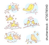 vector set of illustration of... | Shutterstock .eps vector #673078540