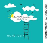 success motivation concept  ... | Shutterstock .eps vector #673087900