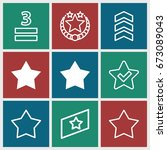 rating icons set. set of 9... | Shutterstock .eps vector #673089043