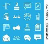 message icons set. set of 16... | Shutterstock .eps vector #673092790