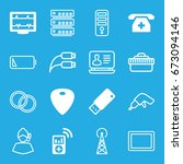 device icons set. set of 16... | Shutterstock .eps vector #673094146