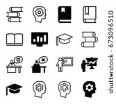 learning icons set. set of 16... | Shutterstock .eps vector #673096510