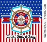 coast guard day banner with... | Shutterstock .eps vector #673107388