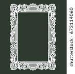 white frame. lazer cut envelope ... | Shutterstock .eps vector #673114060