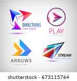 set of abstract business logo... | Shutterstock .eps vector #673115764