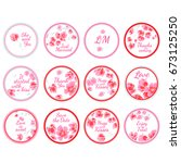 personalized candy sticker... | Shutterstock .eps vector #673125250