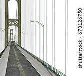 Mackinac Bridge Isolated On...