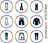 jeans icons set. set of 9 jeans ... | Shutterstock .eps vector #673137868