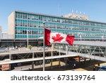 montreal  canada   8 june 2017  ... | Shutterstock . vector #673139764